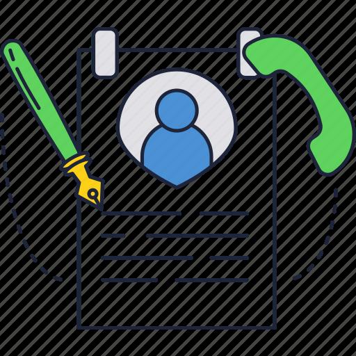 call, cv, hiring, hr, phone, resume icon
