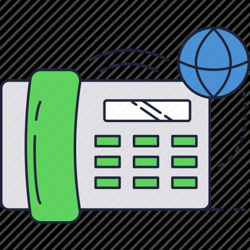 call, communication, global, globe, international, line, phone icon