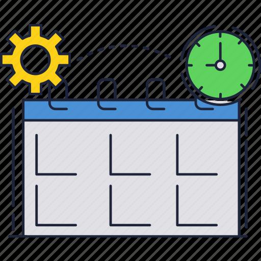 calendar, clock, date, schedule, time icon