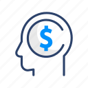 currency, dollar, finance, mindset, money, payment icon