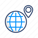 browser, gps, international, location, map, navigation icon