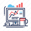 analytics, business, finance, marketing, statistics, web icon
