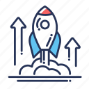 launch, rocket, space, spacecraft, spaceship, startup icon
