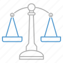 balance, justice, weight icon
