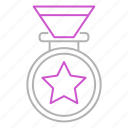 award, medal, sport, star, winner icon