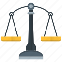 balance, law, legal, scale, weight icon