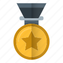 achievement, gold, medal, prize, reward icon