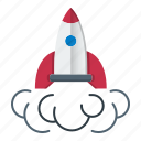 astronomy, business, rocket, spaceship, startup icon