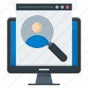 database, find, magnifying glass, seach, searching icon
