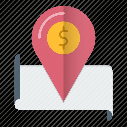 location, map, pin, pirate, treasure icon