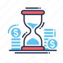 clock, money, time icon