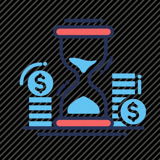 clock, money, time icon