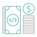 banking, bundle, cash, dollar, payment icon
