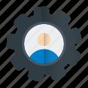 cog, profile, setting, web icon