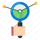 business, data, growth, report, search icon