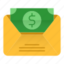 banking, message, sms, taxes icon