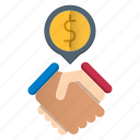 business, contract, deals icon