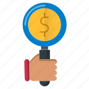 business, find, job, money, search icon