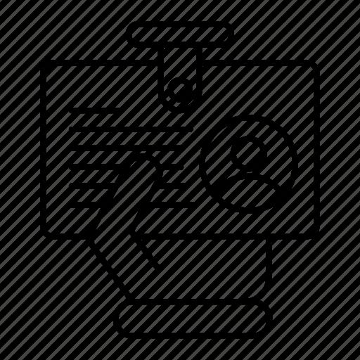 business, finance, identity, presentation icon