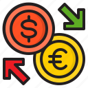 excharge, money, financial, business, euro