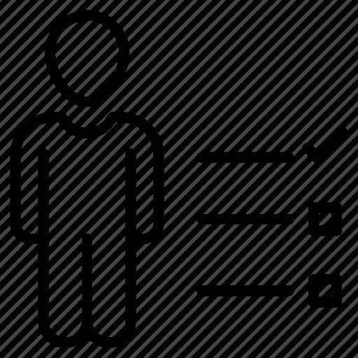 avatar, check, employee, list icon