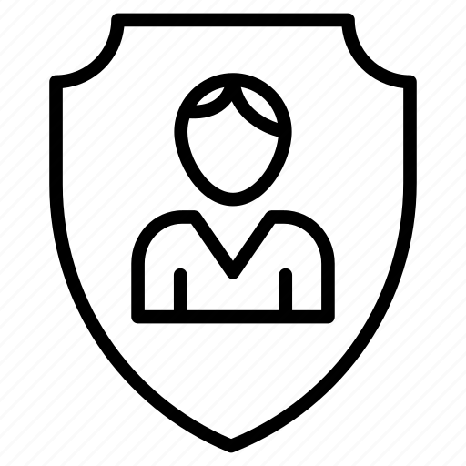 employee, secure, shield, user icon