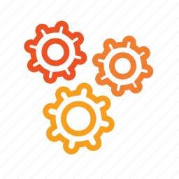 activity, adjustment, application, automation, cogwheels, complex, core, custom, implement, mechanism, operating, optimize, options, preferences, process, production, reaction, settings, sophisticated, useability icon