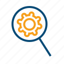 analyze, check, examine, experience, expertise, investigate, results, search, test, testing, useability icon