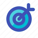 arrow, bullseye, business, career, goal, management, target icon