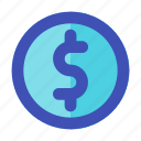 business, career, coin, dollar, management, money, sign icon