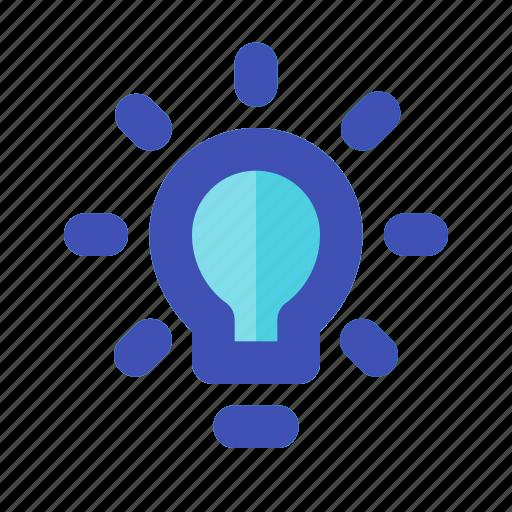 bulb, business, career, idea, lamp, light, management icon