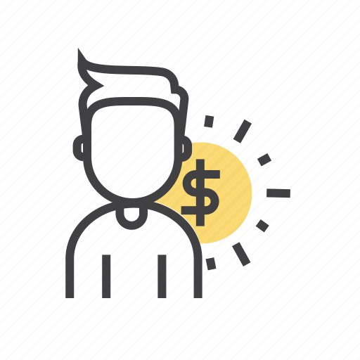 account, business, cost, employee, person icon
