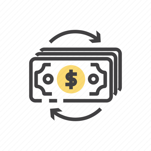 business, currency, flow, money, payment icon