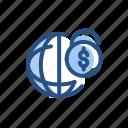 currency, dollar, global, international, money