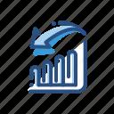analytics, arrow, chart, down, file icon