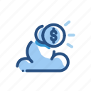 cloud, finance, money, storage icon