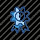 achievement, first, place, prize, ribbon icon