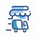 building, commerce, delivery, store, transport icon