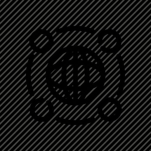 connection, international, internet, network icon