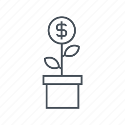 earn, grow, growth, money, plant, rich, wealth icon