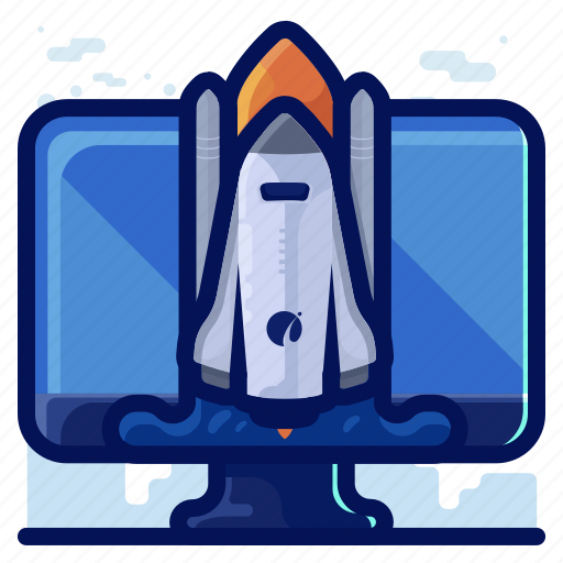 company, launch, rocket, startup, success icon