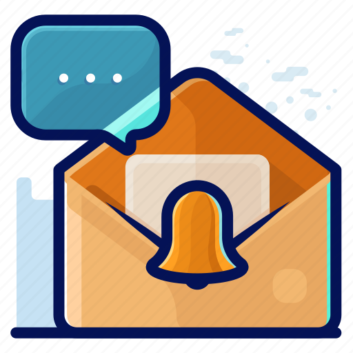 alert, email, memo, message, notification icon