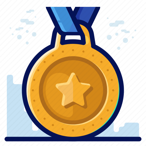 award, medal, reward, star icon