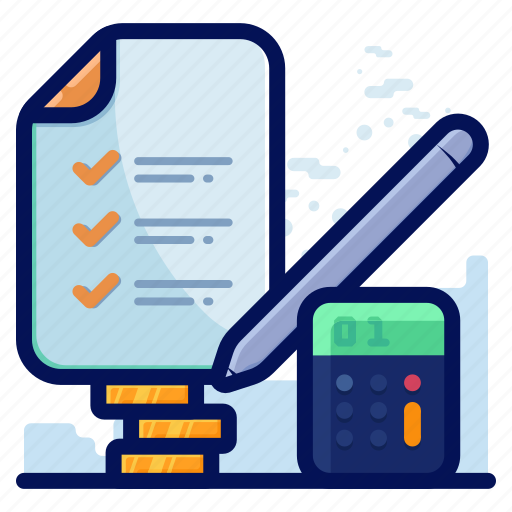 calculator, checklist, finance, list icon