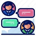 business, chat, conversation, employees icon