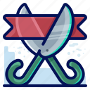 business, cut, opening, ribbon icon