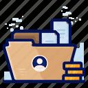 employee, file, folder, personal