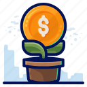 business, dollar, finance, growth icon