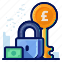 british, financial, pound, savings icon