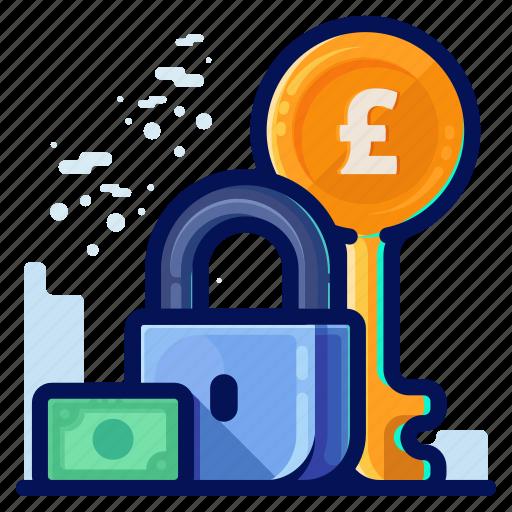 british, financial, pound, savings icon